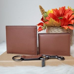 COACH COMPACT ID WALLET IN SPORT CALF LEATHER